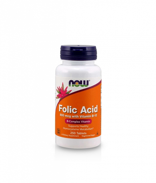 Now Foods Folic Acid 800 mg | 250 tabl.