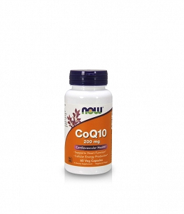 Now Foods Koenzym q10 CoQ10 200 mg | 60 vcaps.