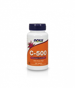 Now Foods Vitamin C-500 with Rose hips | 100 tab.