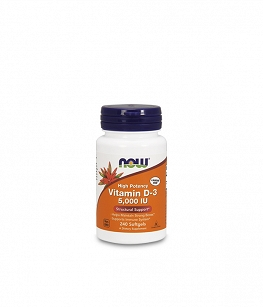 NOW Vitamin D3 5000IU | 240 softgels
