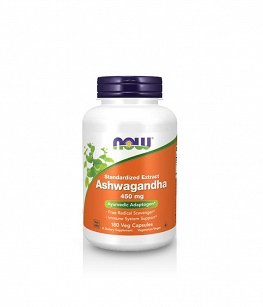 Now Foods Ashwagandha Extract 450mg | 180 vcaps