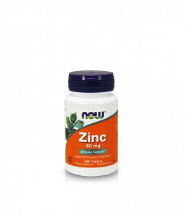 Now Foods Zinc Gluconate 50 mg | 100 tabl.