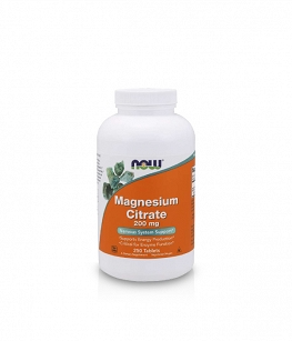 Now Foods Magnesium Citrate 200mg | 250 tabl.