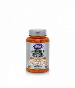 Now Foods Arginine & Ornithine | 100 kaps.