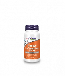 Now Foods Acetyl L-Carnitine (ALC) 500mg | 50 kaps