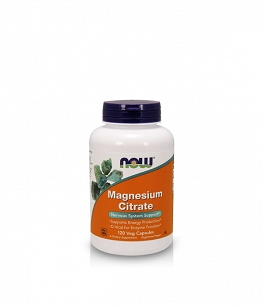 Now Foods Magnesium Citrate 400mg |120 vcaps