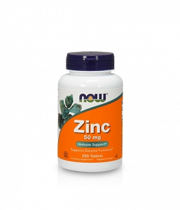 Now Foods Zinc Gluconate 50mg | 250 tabl.