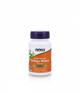 Now Foods Ginkgo Biloba Double Strength 120 mg | 50 vcaps.