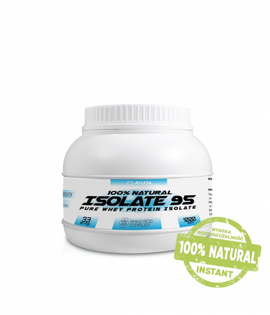 Atleta 100% Natural Whey Protein Isolate WPI 95 | 1 kg