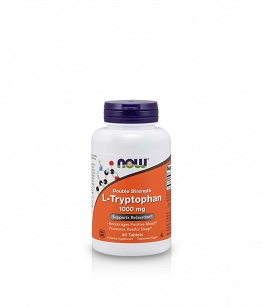 Now Foods L-Tryptophan Double Strength 1000mg | 60 tabl.