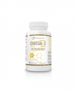 Progress Labs Omega 3 1000mg + Witamina E | 100 kaps.