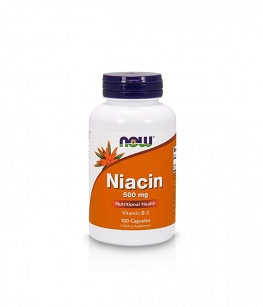 Now Niacin 500mg | 100 caps. | B3