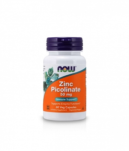 Now Foods Zinc Picolinate 50mg | 60 vege caps