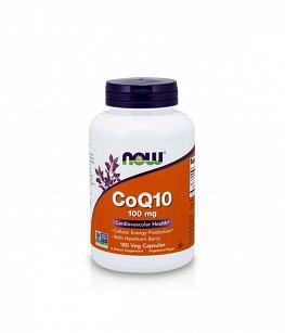 Now Foods CoQ10 100 mg - Koenzym Q10 | 180 vcaps.
