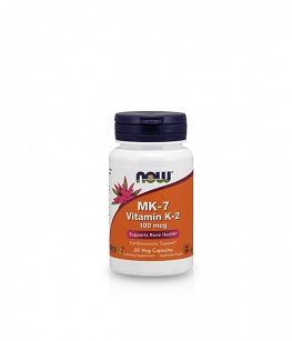 Now Foods Vitamin K2 MK7 100 mcg | 60 vcaps