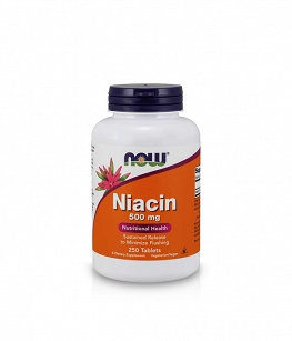 Now Foods Niacin 500 mg | 250 tabl