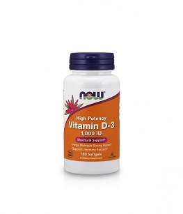 Now Foods  Vitamin D3 1000 IU | 180 softgels