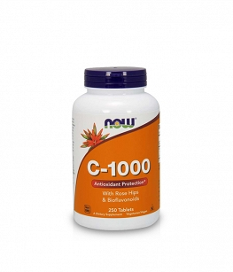 Now Foods Vitamin C-1000 Bioflavonoids with Rose Hips | 250 tab.